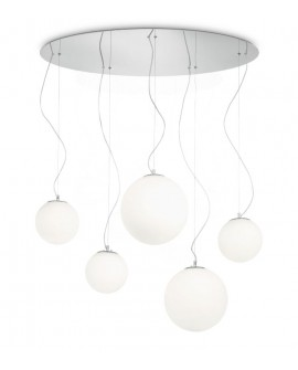 "SUSPENSION ""MAPA""  SP5 BIANCO IDEAL LUX"