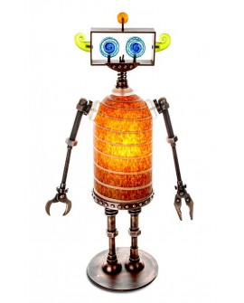"ROBO TABLE LAMP AMBER ""BOROWSKI"""