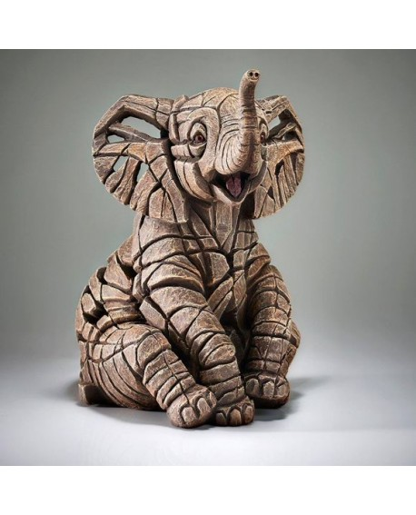 ELEPHANT CALF BY EDGE SCULPTURE