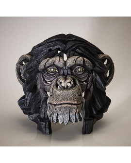 CHIMPANZEE BUST BY EDGE SCULPTURE