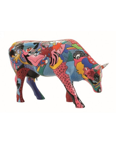 """VACHE """"PARTYING WITH PI-COW-SSO"""" COL. COWPARADE"""