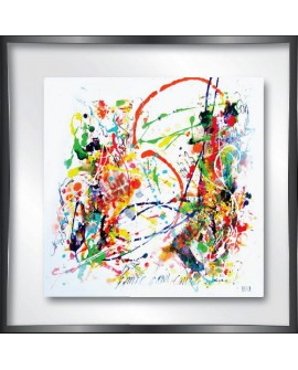 TABLEAU PLEXIGLASS L ENVIE D AVOIR AIMER 30X30  CM CREATION