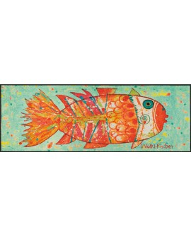 "TAPIS FUNKY FISH ""WASH AND DRY""  75x190 CM"