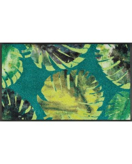 "TAPIS PHILO LEAVES ""WASH AND DRY""  50X75 CM"