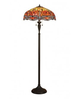 "LAMPADAIRE TIFFANY ""DRAGONFLY FLAME"""