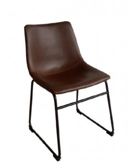 CHAISE ALPHA VINTAGE MARRON