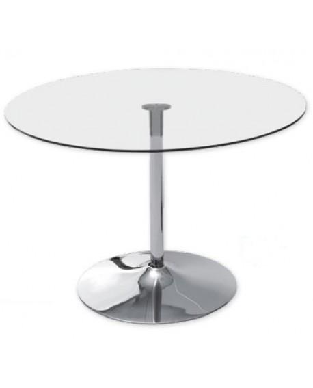 TABLE DE REPAS VERRE TREMPE CORAL