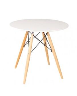 TABLE DE REPAS LAQUE BLANC SKORPIO