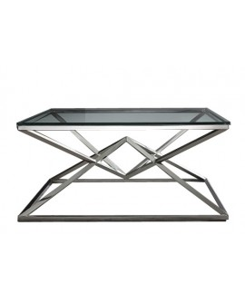 TABLE DE SALON LOUXOR CHROME GALEA