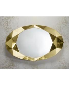 MIROIR OVALE PRECIOUS GOLD DEKNUDT