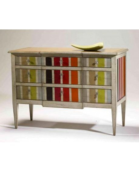 COMMODE FLO LAQUE MULTI-RAYURES