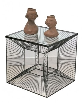 TABLE D'APPOINT CUBE DESIGN GEOMETRIQUE  SO SKIN IDASY