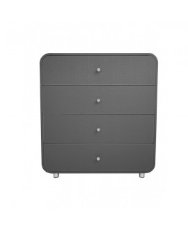 COMMODE 4 TIROIRS GRIS FONCE SO SKIN IDASY