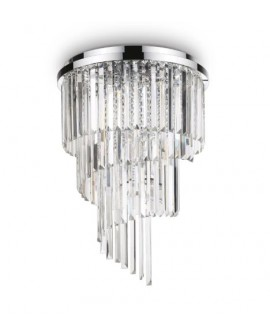 PLAFONNIER CARLTON PL12 CHROME IDEAL LUX