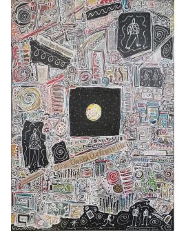 """TOILE KAHL """"L OUVERTURE"""" 65 X 92 cm"""