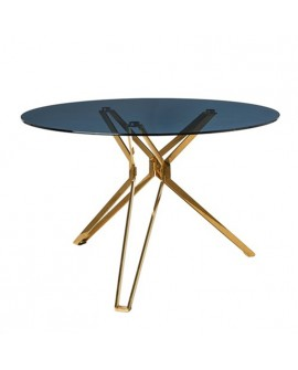 "TABLE DE  REPAS RONDE ""GOLD & GLASS"" POLS POTTEN"