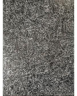 PEINTURE SUR BOIS LORADO 42 x 32 cm