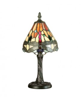 "LAMPE TIFFANY ""DRAGONFLY FLAME"" MINI"