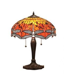 "LAMPE TIFFANY ""DRAGONFLY FLAME"" MEDIUM"