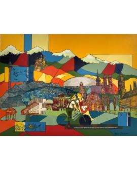 MUNICH 76 x 101 cm ALINE CHEVALIER