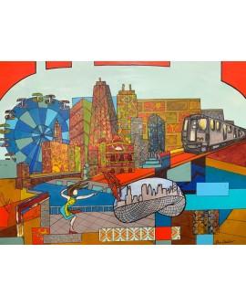 THE LOOP, CHICAGO USA 122 x 92 cm ALINE CHEVALIER