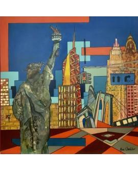 GROUND ZERO, NEW-YORK USA 92 x 92 cm ALINE CHEVALIER